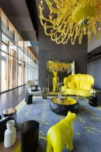 Inspiring Contrast Color Theme Interior Design 31