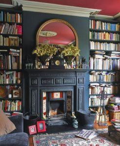 Inspiring Home Library Design and Decorations 16