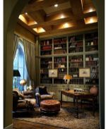 Inspiring Home Library Design and Decorations 21