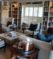 Inspiring Home Library Design and Decorations 24