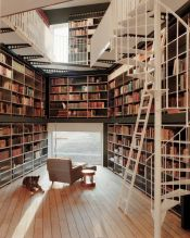 Inspiring Home Library Design and Decorations 33