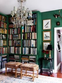 Inspiring Home Library Design and Decorations 36