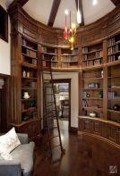 Inspiring Home Library Design and Decorations 37