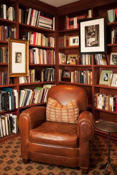 Inspiring Home Library Design and Decorations 41