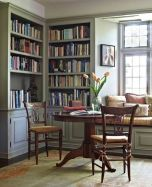 Inspiring Home Library Design and Decorations 44