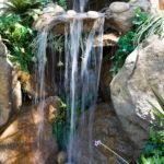 Make a mini waterfall in the garden 10