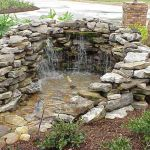 Make a mini waterfall in the garden 13