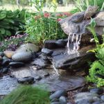 Make a mini waterfall in the garden 4