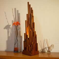 Amazing Wood Lamp Sculpture for Home Decoratios 55