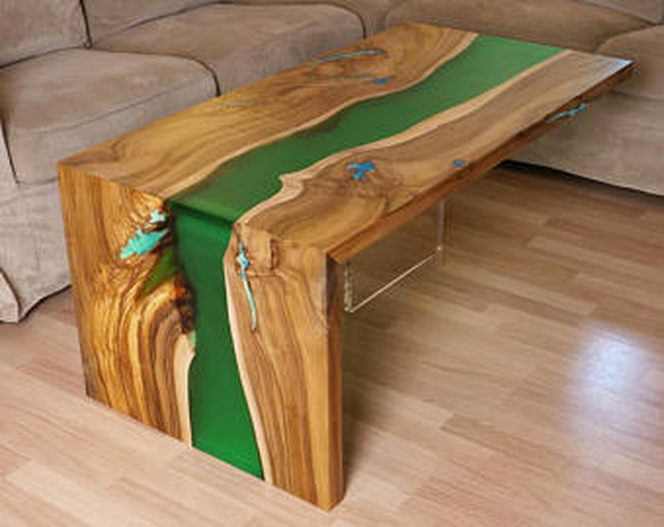 Awesome Resin Wood Table Project By Finewoodencreations.com
