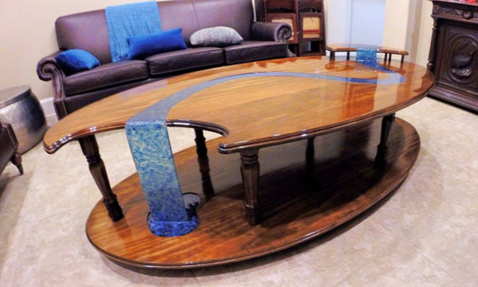 Beau Awesome Resin Wood Table Project 21