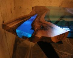 Awesome Resin Wood Table Project 35