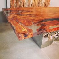 Awesome Resin Wood Table Project 37