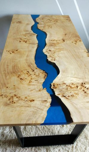 Awesome Resin Wood Table Project 5