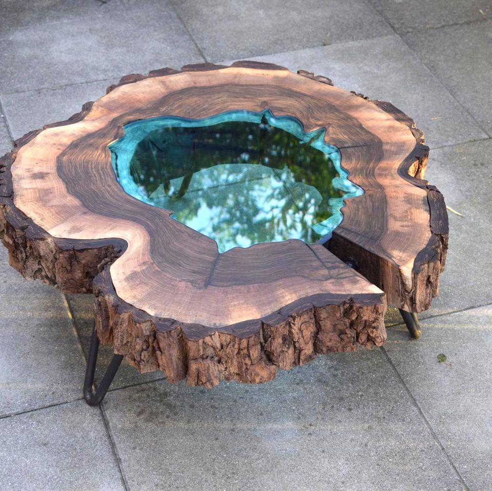 Beau Awesome Resin Wood Table Project 7