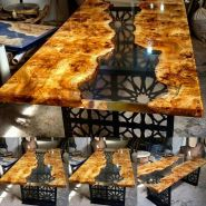 Awesome Resin Wood Table Project 9