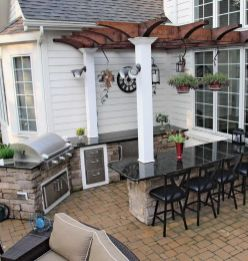 Awesome Yard and Outdoor Kitchen Design Ideas 44