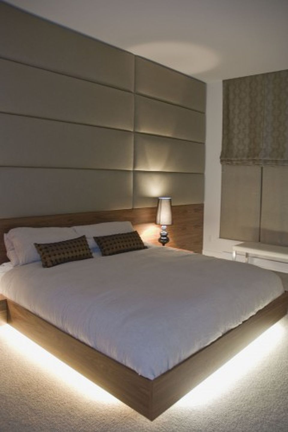 Modern Floating Bed Design With Under Light Ideas 18