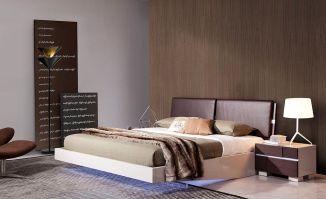 Modern Floating Bed Design with Under Light Ideas 7