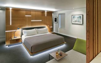 Modern Floating Bed Design with Under Light Ideas 8
