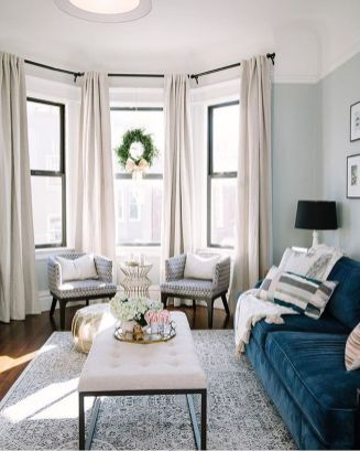 Awesome Tall Curtains Ideas for Living Room 22