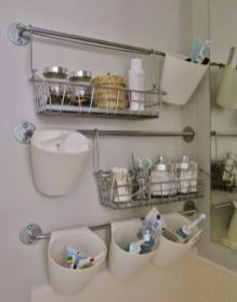 70 Brilliant Ideas for Small Bathroom Hacks and Organization 61