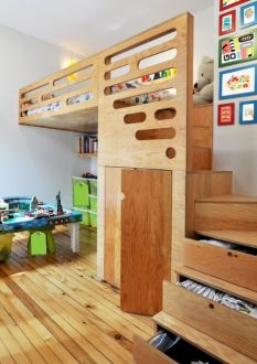 Awesome Cool Loft Bed Design Ideas and Inspirations 86