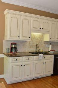 Elegant Kitchen Light Cabinets with Dark Countertops 5