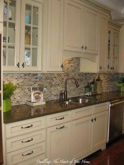 Elegant Kitchen Light Cabinets with Dark Countertops 57