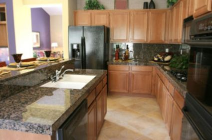 Elegant Kitchen Light Cabinets with Dark Countertops 60