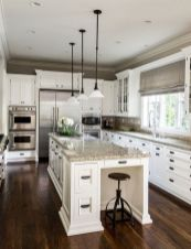 Elegant Kitchen Light Cabinets with Dark Countertops 64