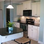 Elegant Kitchen Light Cabinets with Dark Countertops 65