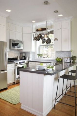 Elegant Kitchen Light Cabinets with Dark Countertops 7