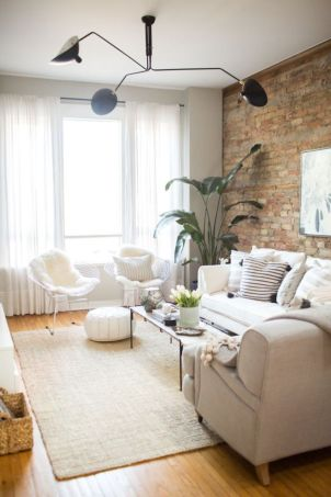 Fascinating Exposed Brick Wall for Living Room 16