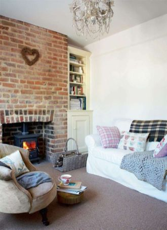 Fascinating Exposed Brick Wall for Living Room 17