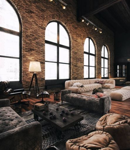 Fascinating Exposed Brick Wall for Living Room 37