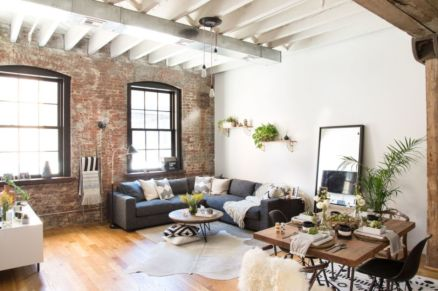 Fascinating Exposed Brick Wall for Living Room 45