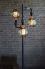 Fascinating Industrial Floor Lamp for Home Decorations 28