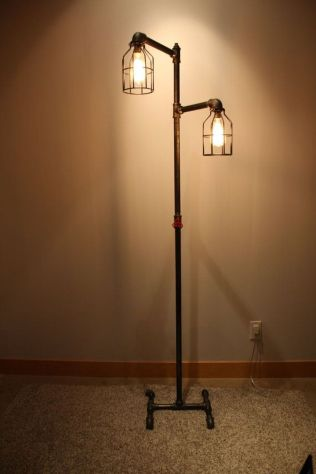 Fascinating Industrial Floor Lamp for Home Decorations 42