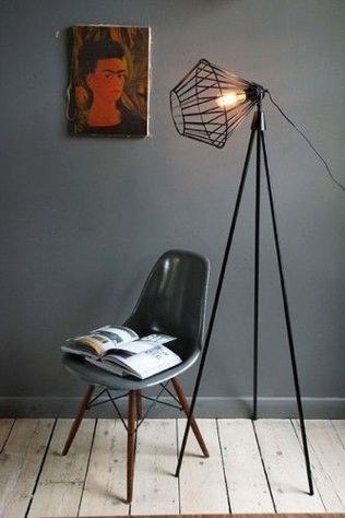 Fascinating Industrial Floor Lamp for Home Decorations 43