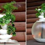 Mini Aquaponics with Fish for Home Decorations 22
