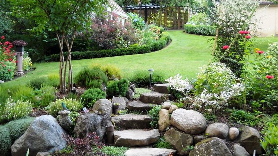Beau Tips And Ideas To Make Garden Steps On A Slope