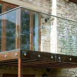 50 Incredible Glass Railing Design for Home Blacony 42