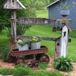 50 Rustic Backyard Garden Decorations 22