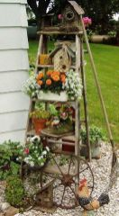 50 Rustic Backyard Garden Decorations 3