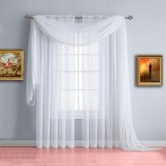 Beauty and Elegant White Curtain for Bedroom and Living Room 14