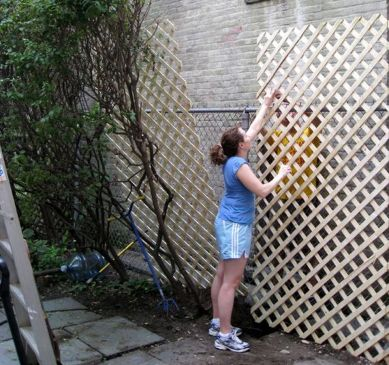 Cool Privacy Fence Wooden Design for Backyard 12