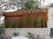 Cool Privacy Fence Wooden Design for Backyard 18