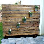 Cool Privacy Fence Wooden Design for Backyard 20