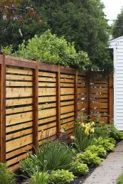 Cool Privacy Fence Wooden Design for Backyard 33